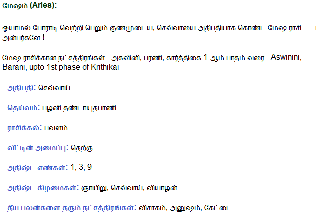 astrology tamil, tamil astrology